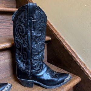 Women's Justin Cowboy Boots Black